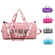 Large Capacity women travel pink duffle bag Fitness Outdoor Travel Handbag Sport Bags For Gym