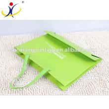Papel modificado para requisitos particulares del bolso de compras de la fábrica de China del logotipo, panier de papel de encargo, panier de papel de lujo