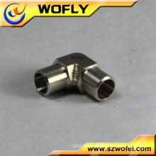 two port 90 degree weld elbow pneumatic fitting