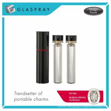 RONDO WB Twist e Spray 20ml Shiny Black Garrafa de perfume recarregável