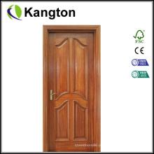 Porta de entrada de madeira de mogno de pintura sólida (porta de entrada)