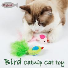 Katzenminze Katze Spielzeug Vogel Feder Haustier Kätzchen spielen Spielzeug 3 Farben