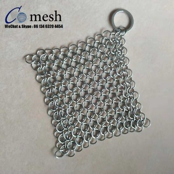 Stainless Steel Chainmail Scrubber / Cast Iron Cleaner