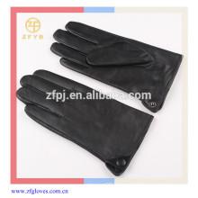 Sheepskin thinsulate winter leather gloves for men