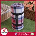 portable face coral fleece picnic back side waterproof insulation blanket
