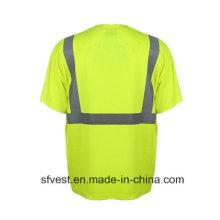 En ISO 20471 Breathable Komfort Reflektierende Sicherheit Polo T-Shirt Großhandel