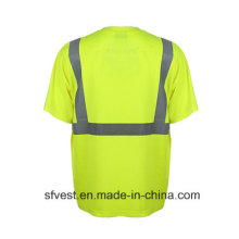 En ISO 20471 Breathable Comfort Reflective Safety Polo T Shirt Wholesale