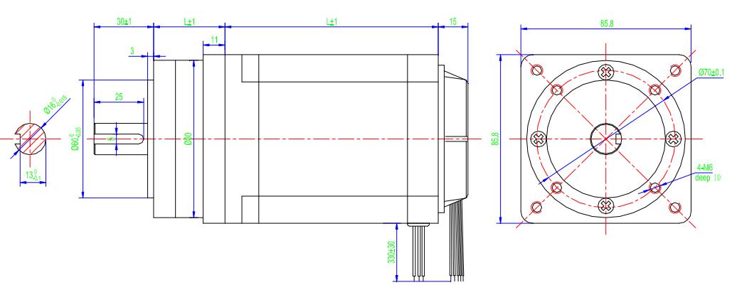86BLF-P brushless dc gear motor/ planetary gearbox nema 34 hi density stacks of stator