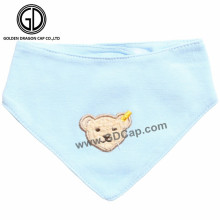 Baberos de bebé de oso de dibujos animados de varios estilos de artículo caliente con bordado