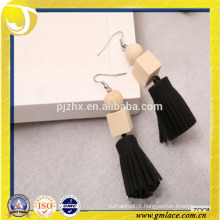 China Supplier Wedding Dresses Costume black Tassel Earring