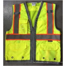 Hi Visibility Deluxe Safety Vest with Yellow (DFJ1602)