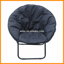 leisure folding round chair, padding cotton chair , black , comfortable