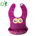 Nya produkter Custom Double Material Silicon Baby Bibs