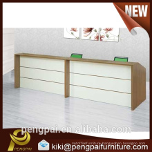 Fashionable high quality wooden reception desk, custom made reception desks