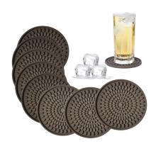 Custom Large Oval Shape  Silicone Drink Coasters