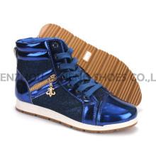 Zapatos de mujer ocio PU zapatos con suela de cuerda Snc-55014