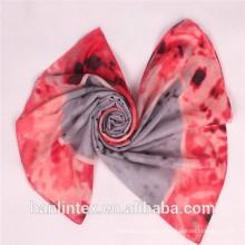 100% полиэфирная ткань из искусственного меха для скручивания / скручивания полиэфирной вуали для шарфа / ткани из ткани
