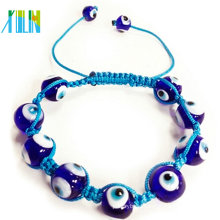 fashion beautiful red turkish eyes Shamballa Bracelet
