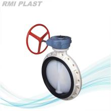 PVDF Butterfly Valve gear operate