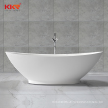 Freestanding man-made white artificial stone resin acrylic solid surface bathtubs bath tub
