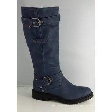 Women Fashion Knee High Heel Boot with Buckle (S 323)