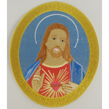 Iron-On Jesus Portrayal Bordado Emblema