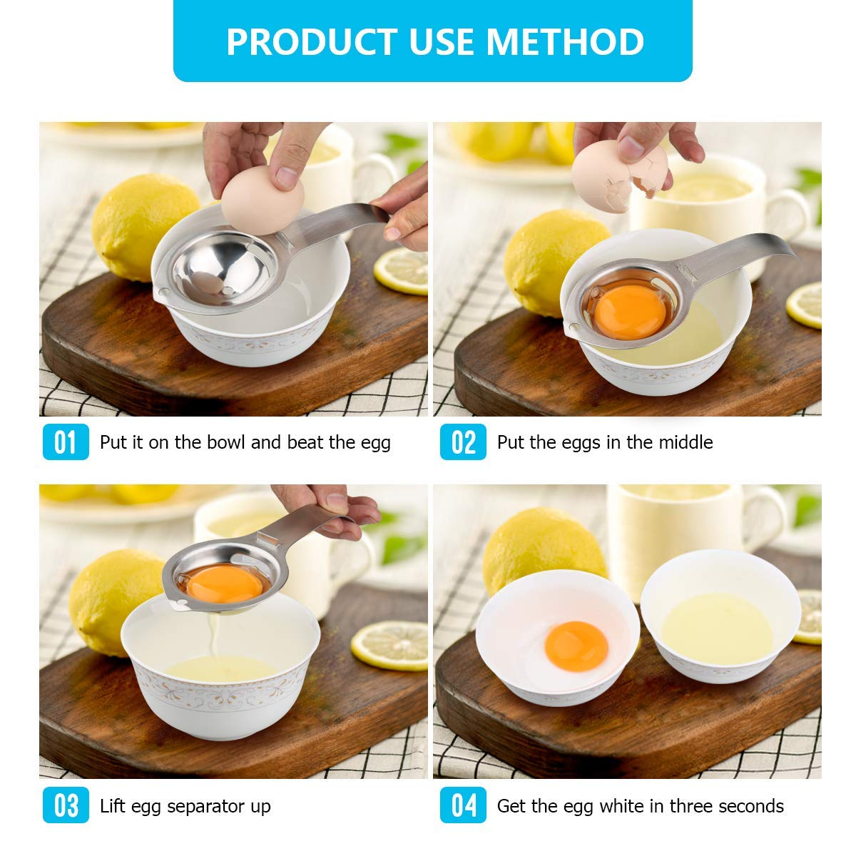 Stainless Steel Egg Separator