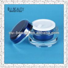 Round shiny cosmetic acrylic cream jar 15g