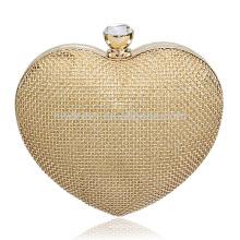 Ouro Beads Ladies Evening Dinner Embreagem Bolso Noiva Para Casamento Evening Party Use Bridal Handbags B00031 bolsas baratas on-line