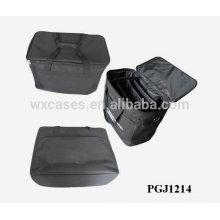 maleta de ferramentas 600D impermeável com compartimentos ajustáveis dentro