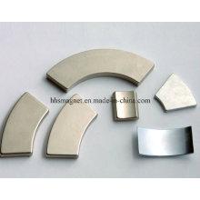 Íman de neodímio com forma de segmento de arco, usado para o motor
