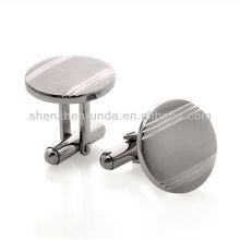 Vente en gros en acier inoxydable bijoux en blanc hommes boutons de manchette fabriqués en Chine