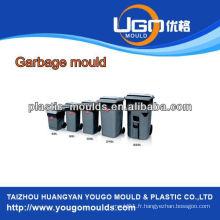 Moule à déchets en plastique à différents volumes, fabrication de moulures en bustbin expérimentées, moule de poubelle à injection plastique