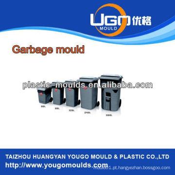 Módulo de lixo de plástico de diferentes volumes, moldagem de moldagem de bustbin experiente, molde de lixo de injeção de plástico
