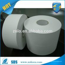Матовая белая ультраразрушаемая виниловая бумага для яиц с самоклеющейся этикеткой