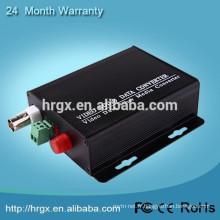 2017 OEM / ODM 1 Canal mini vidéo fibre optique émetteur et récepteur Forward / Reverse Audio tv vidéo convertisseur boîte