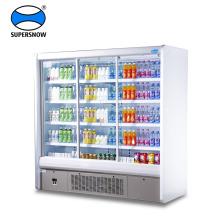 Congelador vertical de porta dupla de vidro portátil