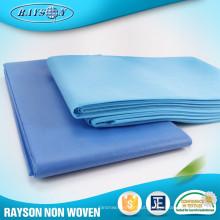 Bedsheet não tecido impermeável descartável barato do preço, tampa de cama, grupo da folha de cama
