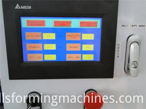 Automatic Hurricane Aluminum Roller Shutter Machine-PLC station