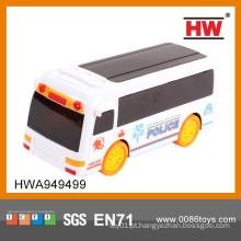 Alta qualidade 19 cm elétrico 3D musical e brinquedo de plástico leve cidade ônibus