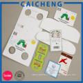 La Chine marquant la conception d'étiquette de vêtement de fantaisie, étiquette de prix faite sur commande, étiquette volante de papier