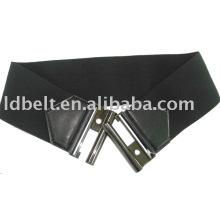 Moda cintos pretos personalizados cinto elástico