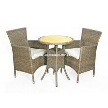 Silla de jardín de mimbre de muebles de Causal de rota al aire libre Patio