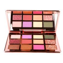 Full Plating Luxury Metal Eyeshadow Palette Pigment Private Label Maquillaje Vegan Makeup Eyeshadow Palette
