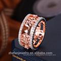лучшая цена высокое качество оптовая продажа изготовление ювелирных изделий дешевые Оптовая цена кольца CZ золотые свадебные кольца