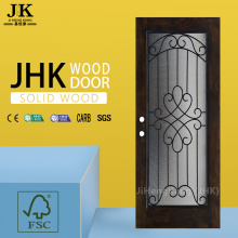 JHK Lion Cap Carved Paint Wood Interior Door