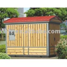 Subestación de transmisión eléctrica caja madera