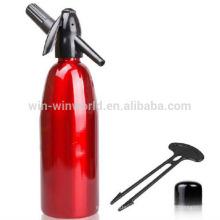 O alumínio por atacado 1 litro personalizou o distribuidor do sifão da soda com parte superior plástica