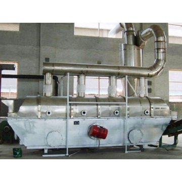Vibrating fluid bed drier for ammonium sulfate