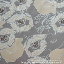 Poly-Printed-Futter mit cremefarbener Blume für Kleidungsstücke
